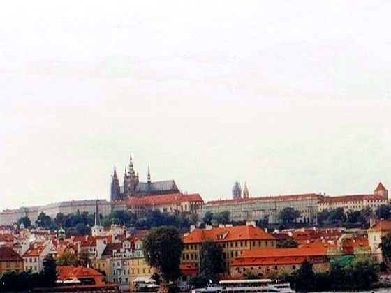 Prague-view of The Castle and St. Vitus Cathedral