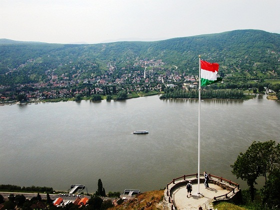 Visegrad Castle-View of the Danube River and Slovakia