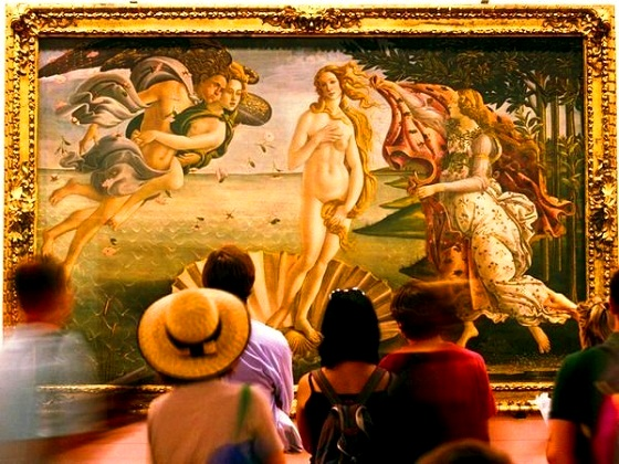 Firenze-Uffizi Gallery-Botticelli's; The Birth of Venus