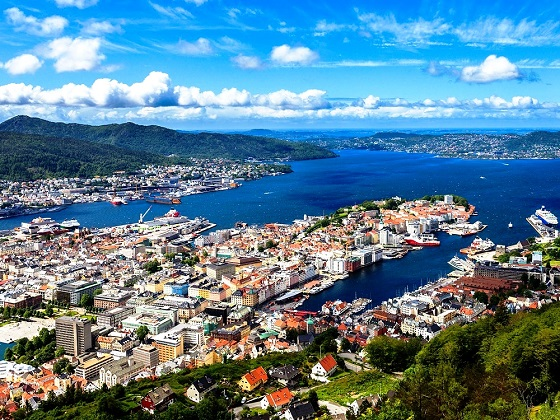 Bergen-View from Mount Fløyen