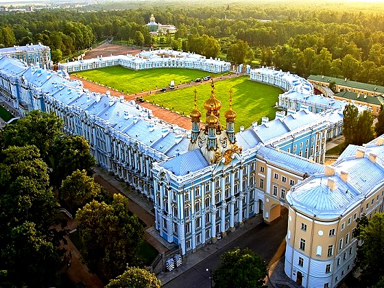 St. Petersburg-Catherine Palace, Aerial view