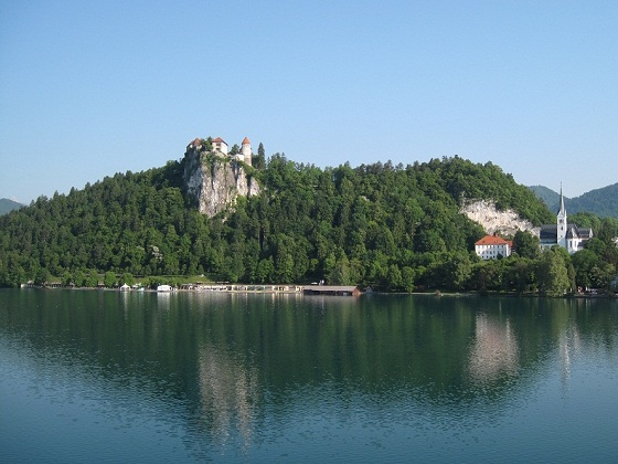 Bled-castle and church